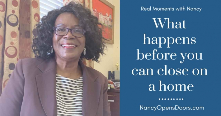 What happens before you can close a home